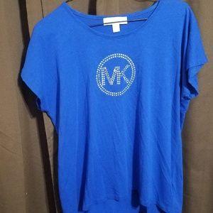 Michael Kors Women's Rhinestone Blouse Shirt Large